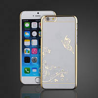 Чехол SWAROVSKI Butterfly Clear Gold для Iphone 6, фото 1
