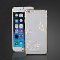 Чехол SWAROVSKI Butterfly Clear Gold для Iphone 6