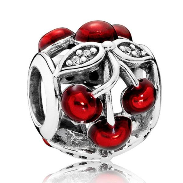 """Пандора Подвеска-шарм из серебра """"Сладкие вишни"""" Pandora 791900EN73"""