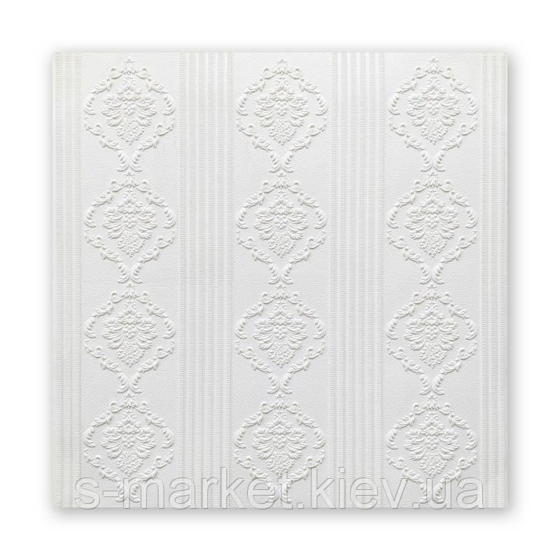 Самоклеющаяся декоративная потолочная 3D панель бесшовный 700x700x5мм