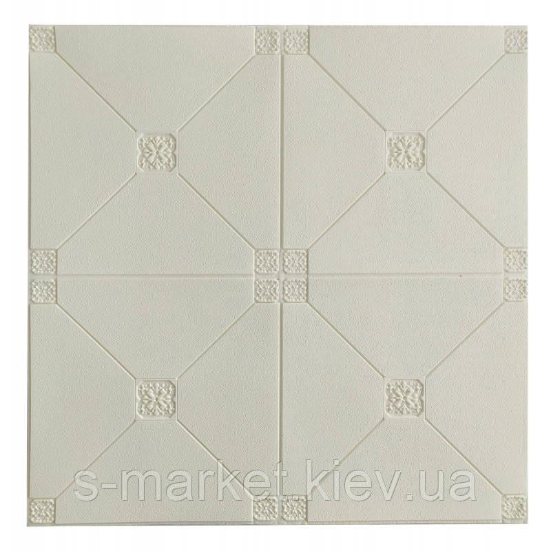Самоклеюча декоративна стельова 3D панель плитка 700x700x4.5мм
