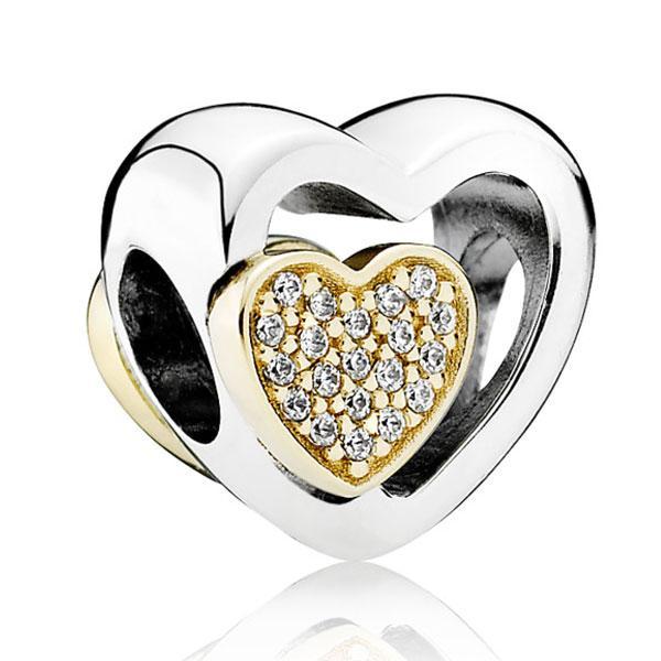 Пандора Подвеска-шарм Союз любящих сердец Pandora 791806CZ