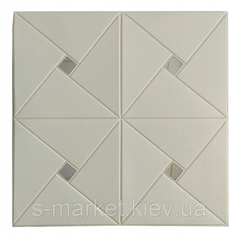 Самоклеющаяся декоративная потолочная 3D панель зеркало 700x700х6.5мм