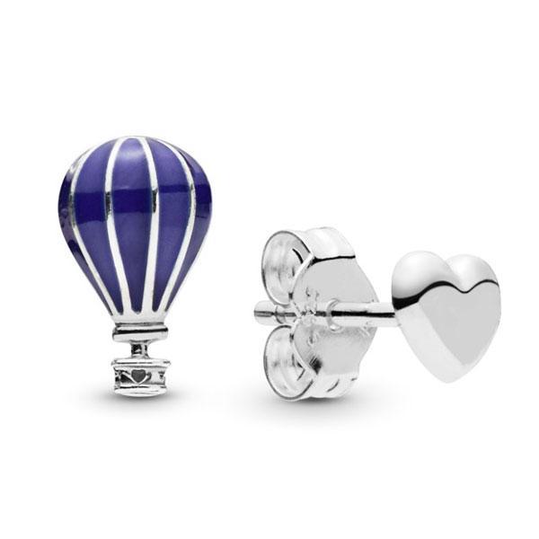 Пандора Серьги-пусеты Воздушный шар и сердце Pandora 298058EN195