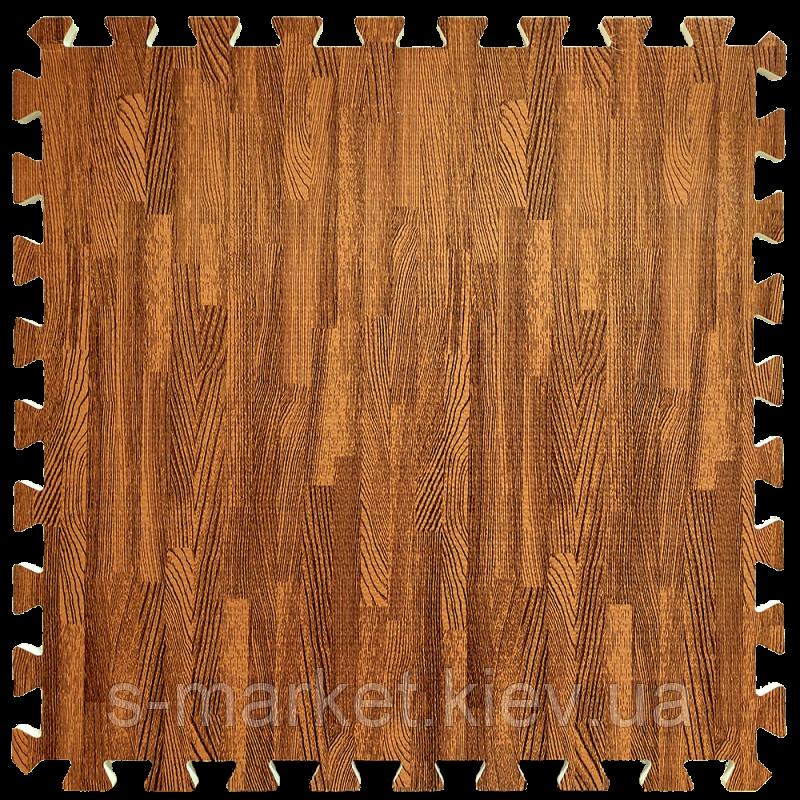Модульное напольное покрытие 600*600*10 мм красное дерево