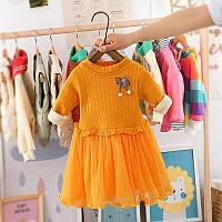 Теплое детское нарядное платье на девочку, детские платья для девочек, дитяча сукня для дівчинки, дитячі сукні