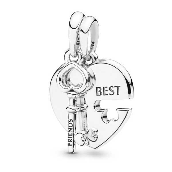 Пандора Шарм Лучшие друзья Седце и Ключ Pandora 398130