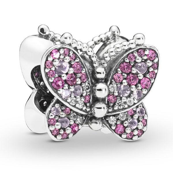 Пандора Шарм Ослепительная розовая бабочка Pandora 797882NCCMX