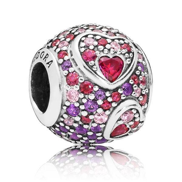 Пандора Шарм Сердца Любви Pandora 797826CZRMX