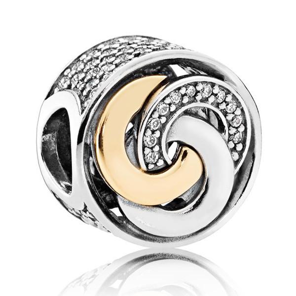 Пандора Шарм Сцепленные кольца Позолота Pandora 792090CZ_p