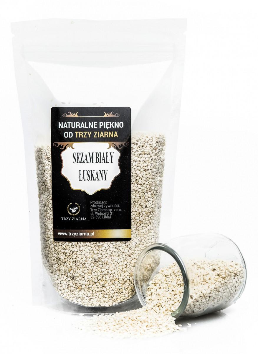 Кунжут белый (Сезам) очищенный 1 kg, Три зерна