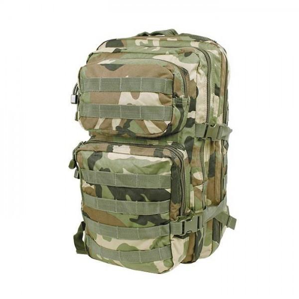 Штурмовой рюкзак 36л система Molle MilTec Assault камуфляж Woodland 14002220