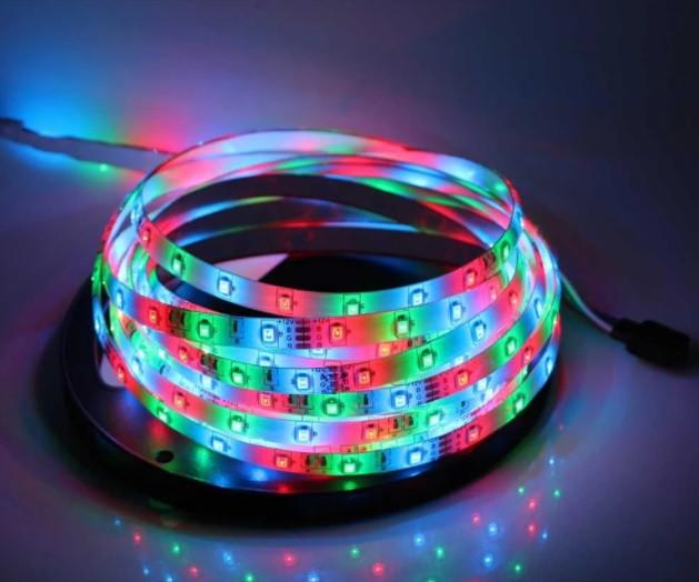 ХИТ 2020》》Светодиодная лента RGB 5050 с пультом и блоком питания 5 метров