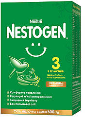 Сухая молочная смесь Nestogen 3 для детей от 12 до 18 месяцев, 600 г