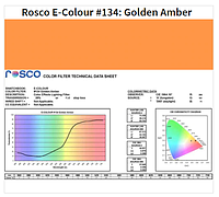 Фильтр Rosco E-Colour+ 134 Golden Amber Roll (61342), фото 1