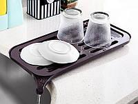 Сушка для посуды плоская ЕMHOUSE (17,5х37х1,5 см) Турция EP-201
