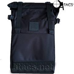 Роллтоп рюкзак черного цвета