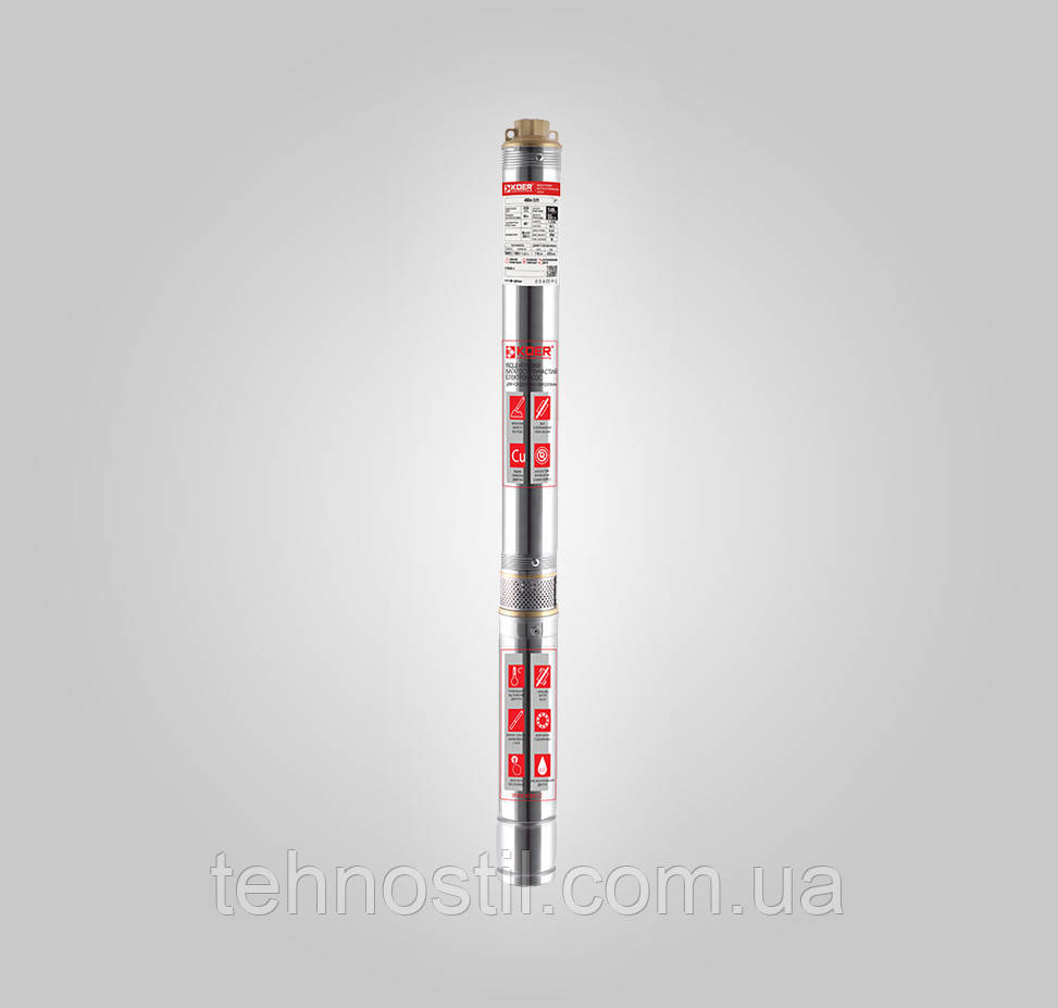 KOER 4SDM2/7 Насос скважинный центробежный (3.3 м³, 50 м, 0.25 кВт)