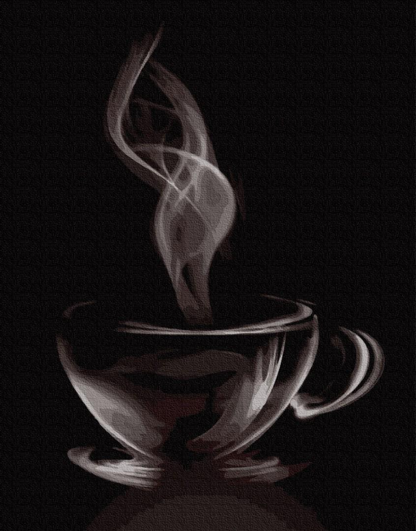 Картина рисование по номерам BrushMe Аромат кофе GX27576 40х50см набор для росписи, краски, кисти, холст