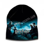 Демисезонная шапка Гарри Поттер, размер универсальный (52-56см) двухслойная шапка Harry Potter
