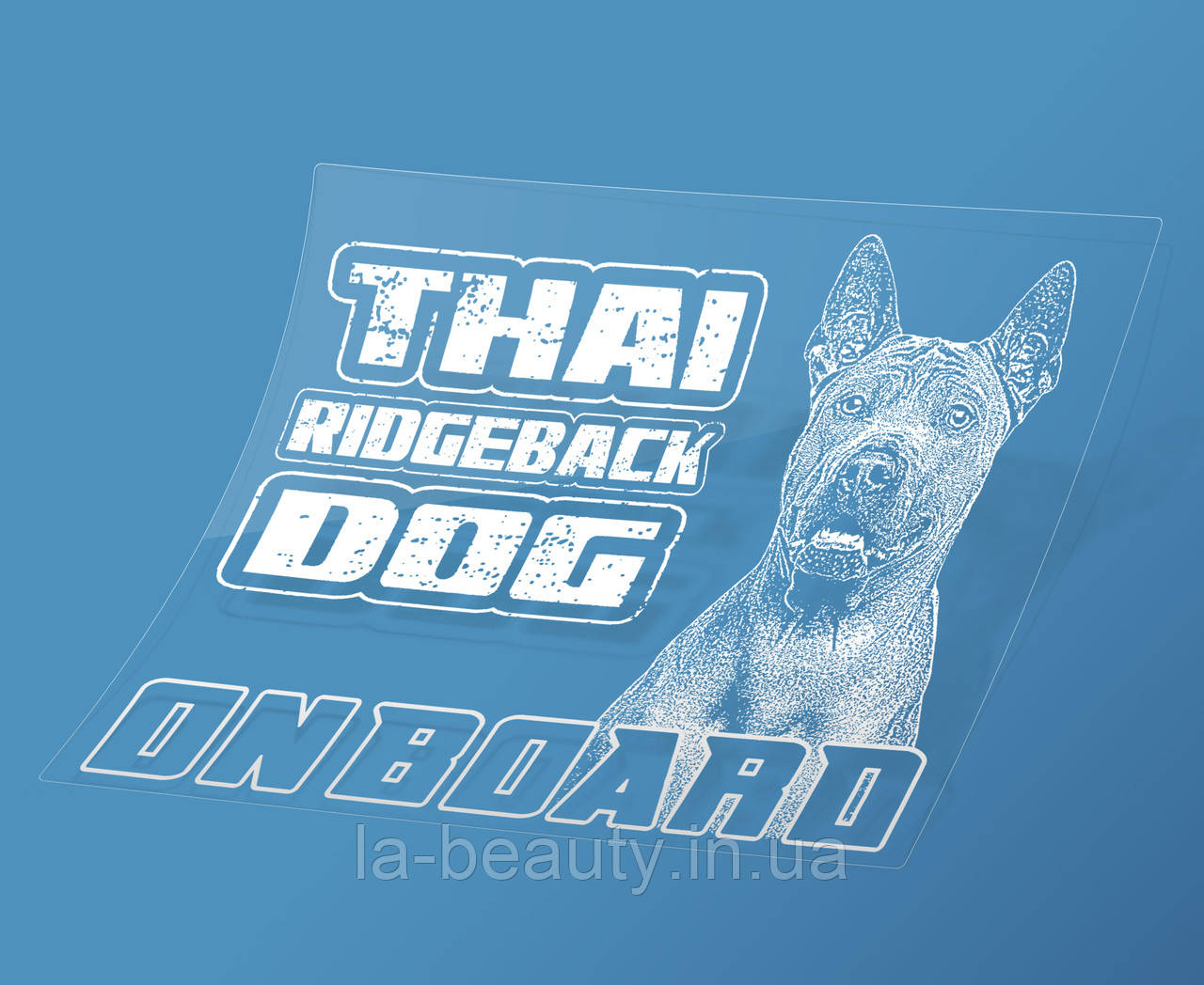 Наклейка на машину Тайский риджбек на борту (Thai Ridgeback Dog On Board)