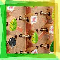 Розвиваючі іграшки для дітей: Шнурівка