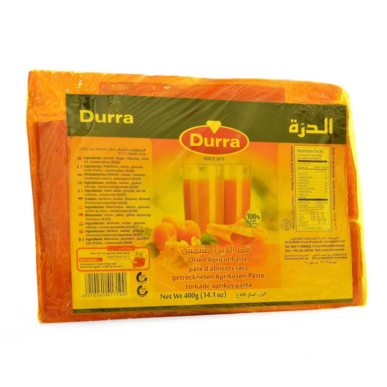 Пастила абрикосовая Durra 400 грамм