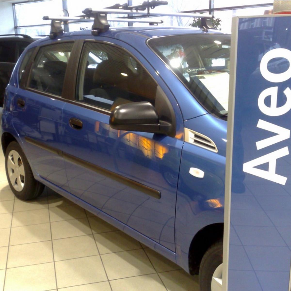 Молдинги на двери для Сhevrolet Aveo T200, T255 5Dr, ZAZ Vida хетчбек 2002+