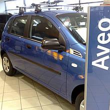 Молдинги на двері для Сhevrolet Aveo T200, T255 5Dr, ZAZ Vida хетчбек 2002+