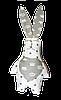 Подушка Хатка Заяц Белый с Серым