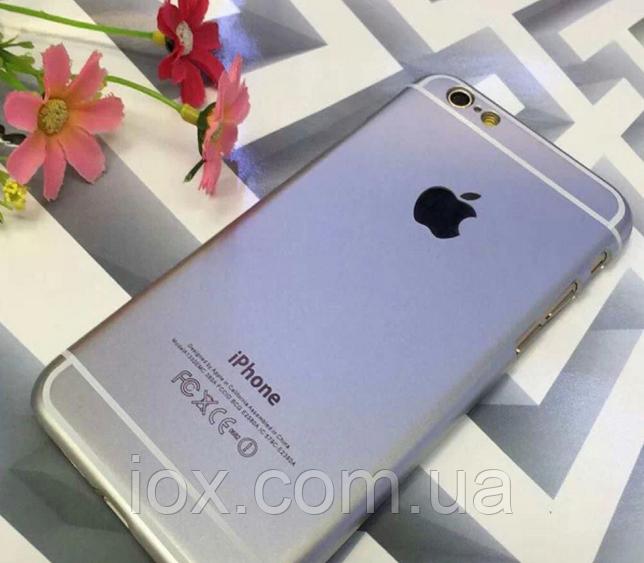 Пластиковый оригинальный чехол для Iphone 6 серебро