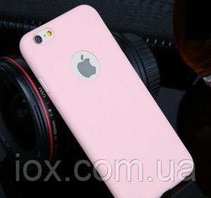 Силиконовый персиковый чехол для Iphone 6/6s
