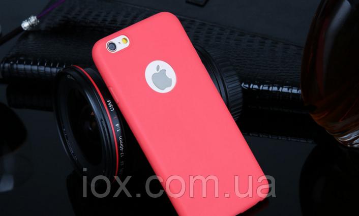 Силиконовый ярко розовый чехол для Iphone 6