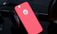 Силиконовый ярко розовый чехол для Iphone 6, фото 1