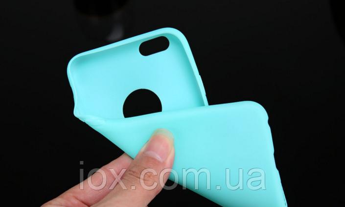 Силиконовый голубой чехол для Iphone 6/6s