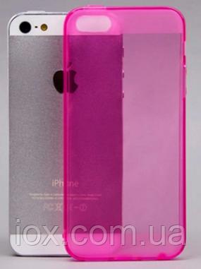 Силиконовый розовый чехол для Iphone 5/5S