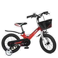 Велосипед детский 14 дюймов (магниевая рама) Profi Hunter WLN1450D-3N Красный