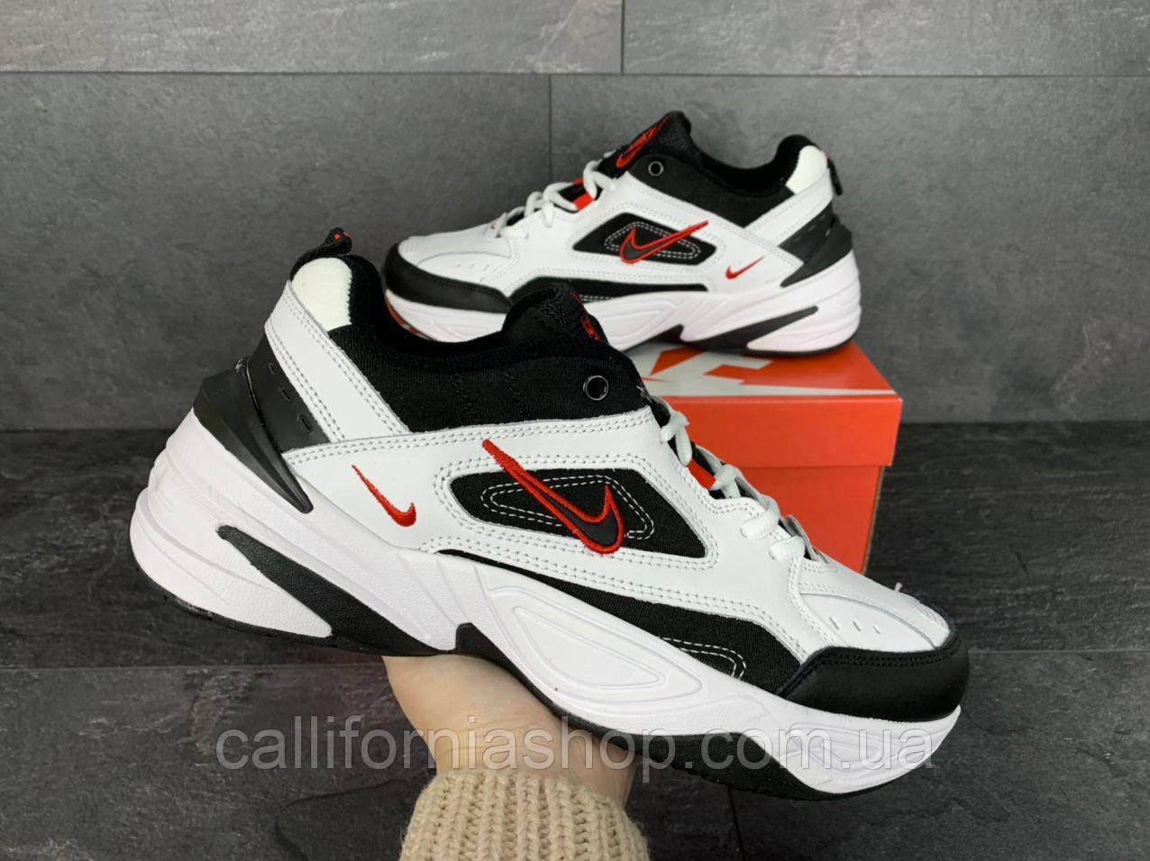 Кроссовки мужские Nike M2K Tekno Найк М2К Текно цвет белый с черным демисезонные