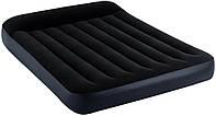 Надувной матрас-кровать полуторный Intex с подголовником, 191*137*25 см