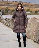 Удлиненная зимняя куртка женская Плащевка на синтепоне и овчине Размер 48 50 52 54 56 58 60 62 Разные цвета, фото 2