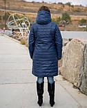Удлиненная зимняя куртка женская Плащевка на синтепоне и овчине Размер 48 50 52 54 56 58 60 62 Разные цвета, фото 5