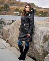 Удлиненная зимняя куртка женская Плащевка на синтепоне и овчине Размер 48 50 52 54 56 58 60 62 Разные цвета