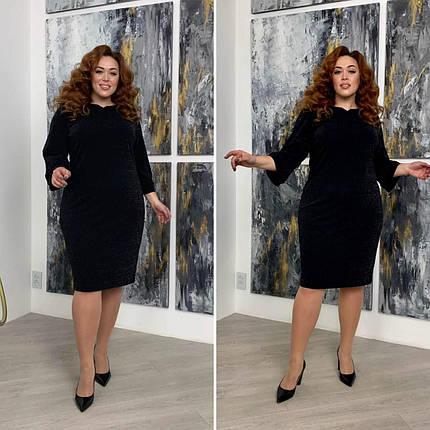 """Элегантное женское платье с напылением, ткань """"Креп-дайвинг"""" 54, 56, 58, 60 размер 54, фото 2"""