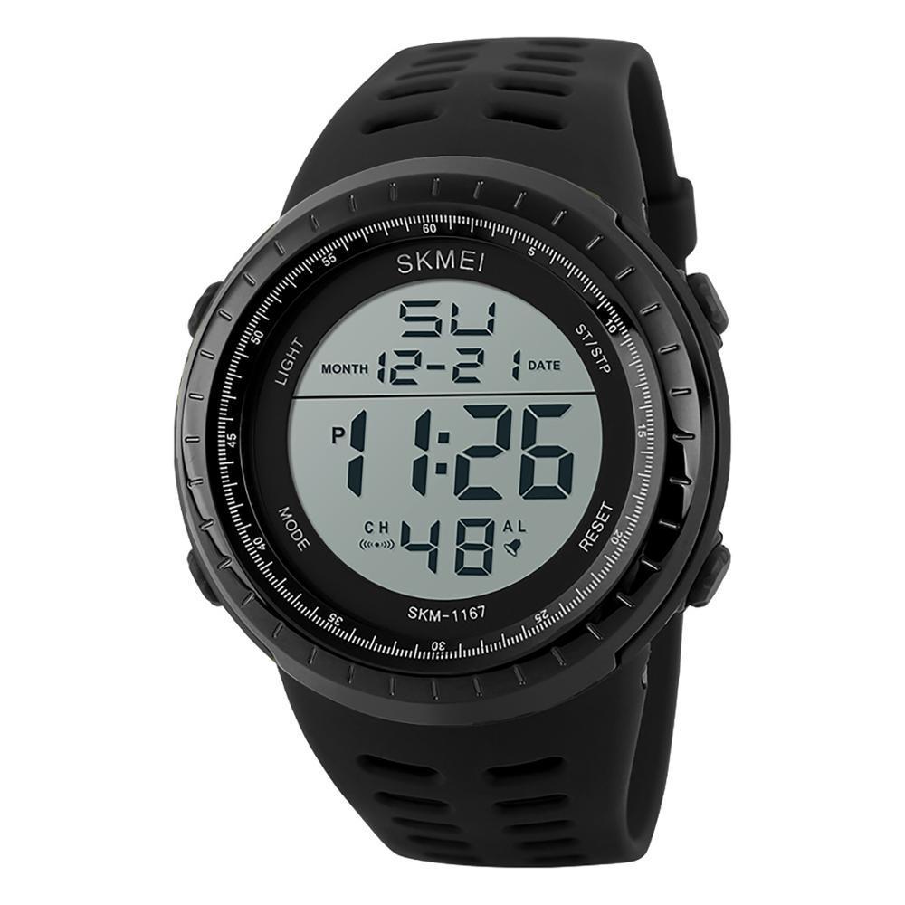 Skmei 1167 Tactic Черные мужские  спортивные часы