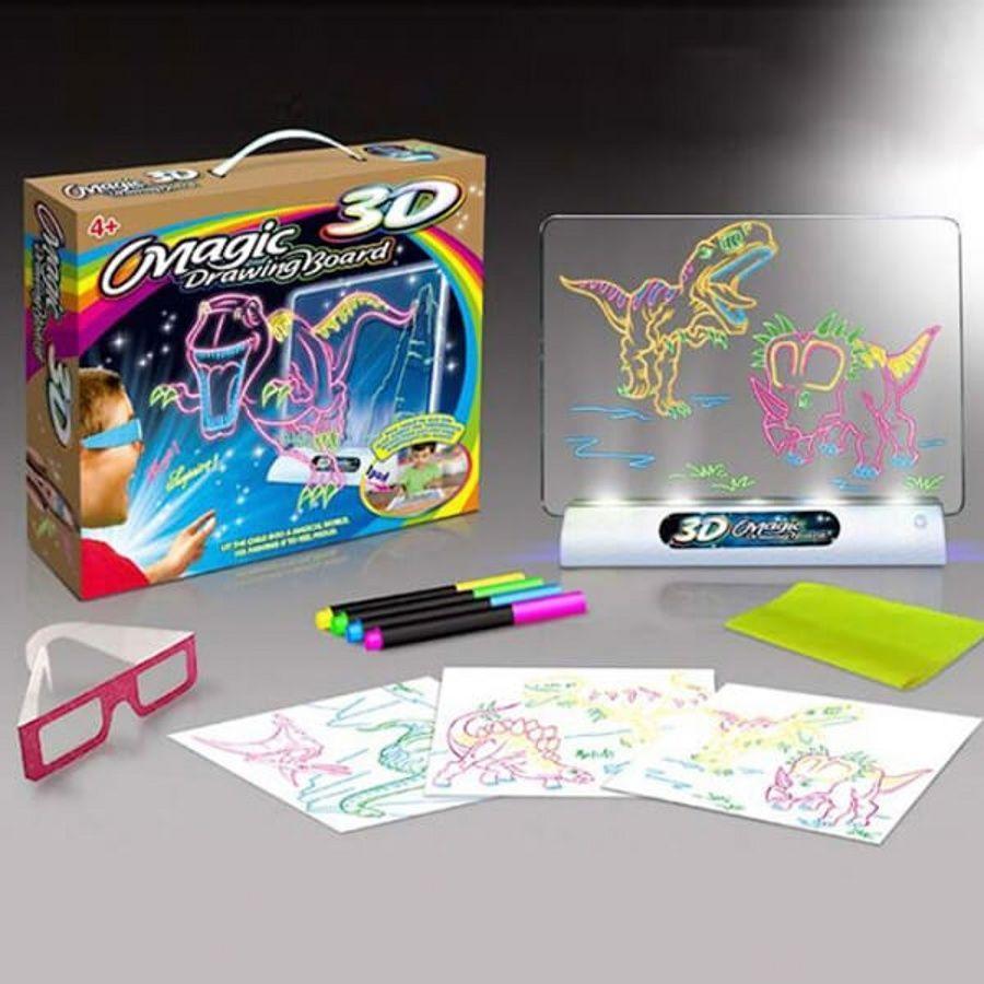 Доска-планшет для рисования 3D Magic Drawing Board, Набор для рисования 3д магический, 3D доска для рисования