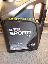 Масло Elf Sporti 9  5W-40 , 5 литров, синтетика (производитель Евросоюз)
