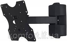 Кронштейн Квадо К-41. Наклонно-поворотное (с коленом) настенное крепление для ТВ с VESA до 200х200мм