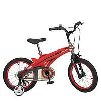Велосипед детский 16 дюймов (магниевая рама) Profi Projective WLN1639D-T-3F Красный