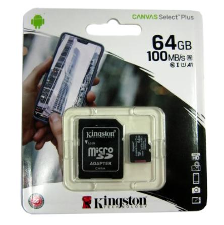Карта памяти micro SD KINGSTON 64GB