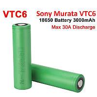 18650 Sony Murata VTC6 аккумулятор литиевый (Li-ion) промышленный высоко-токовый 18650VTC6 3000 mAh